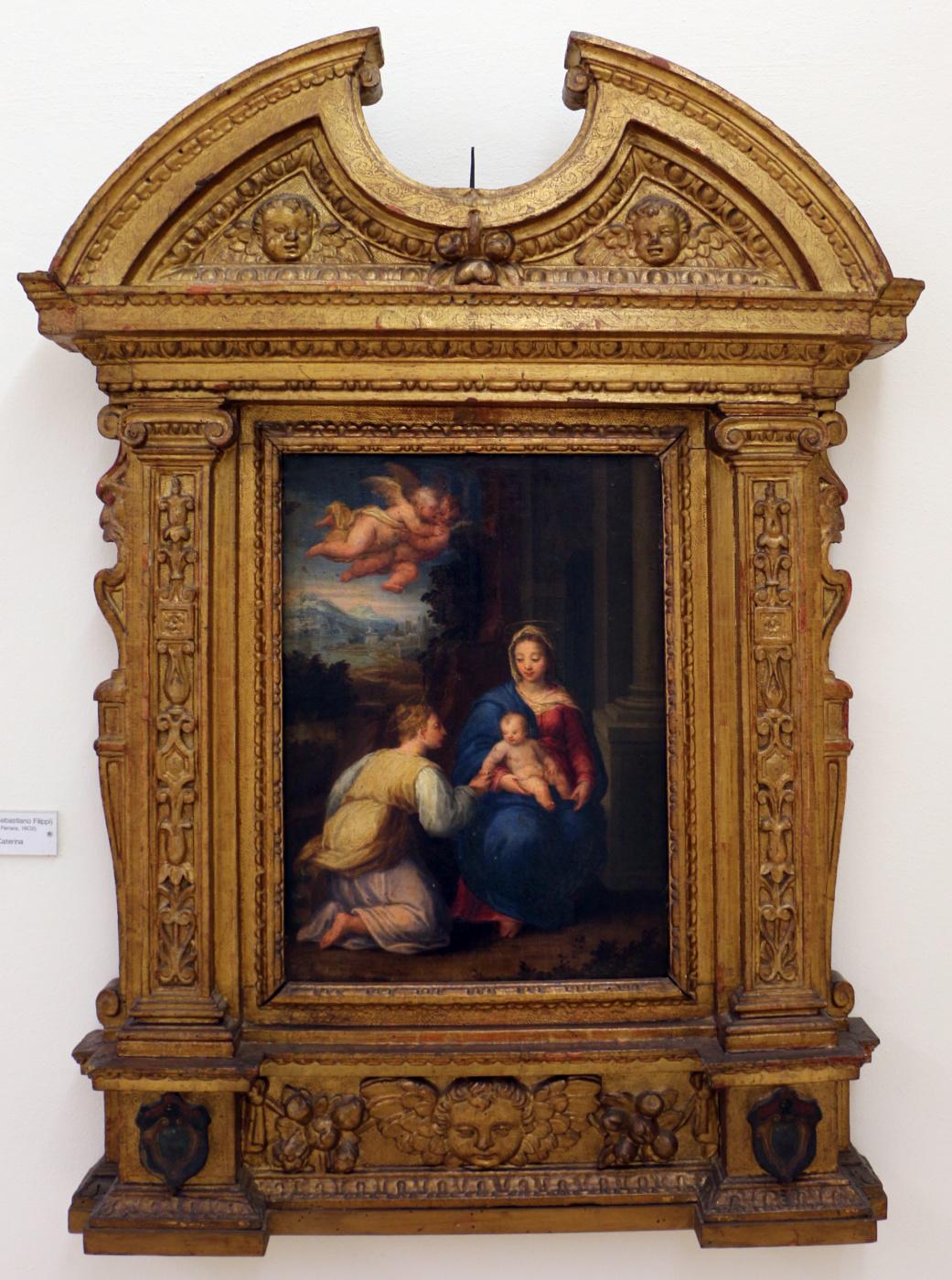 Sebastiano Filippi (Bastianino). The mystical marriage of Saint Catherine of Alexandria