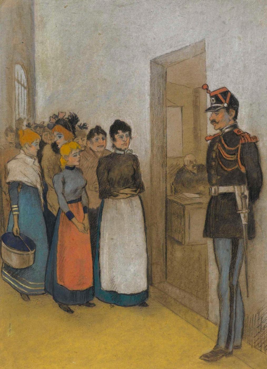 Theophile-Alexander Steinlen. Prison Saint-Lazare: visit