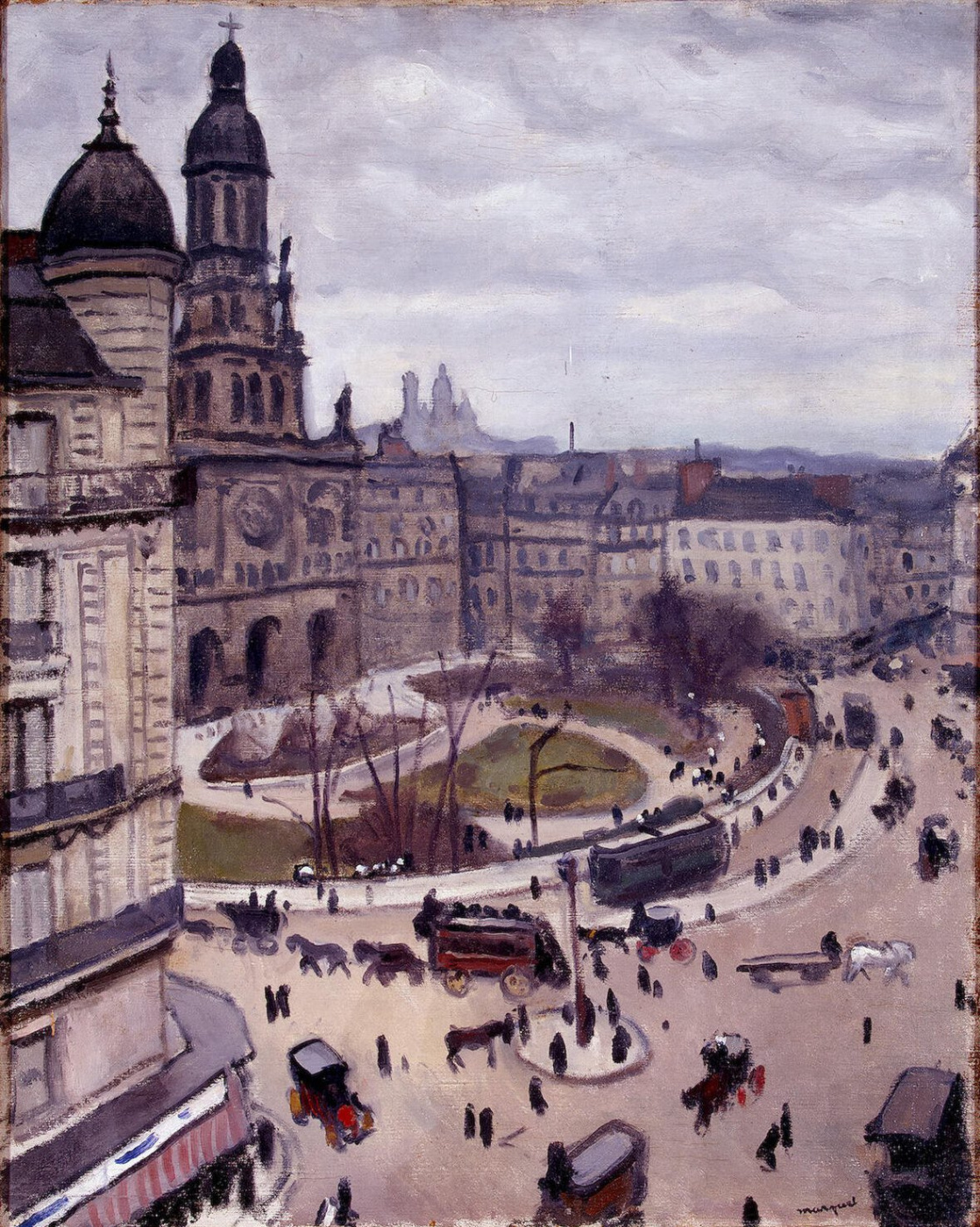 Albert Marquet. Square of the Holy Trinity in Paris