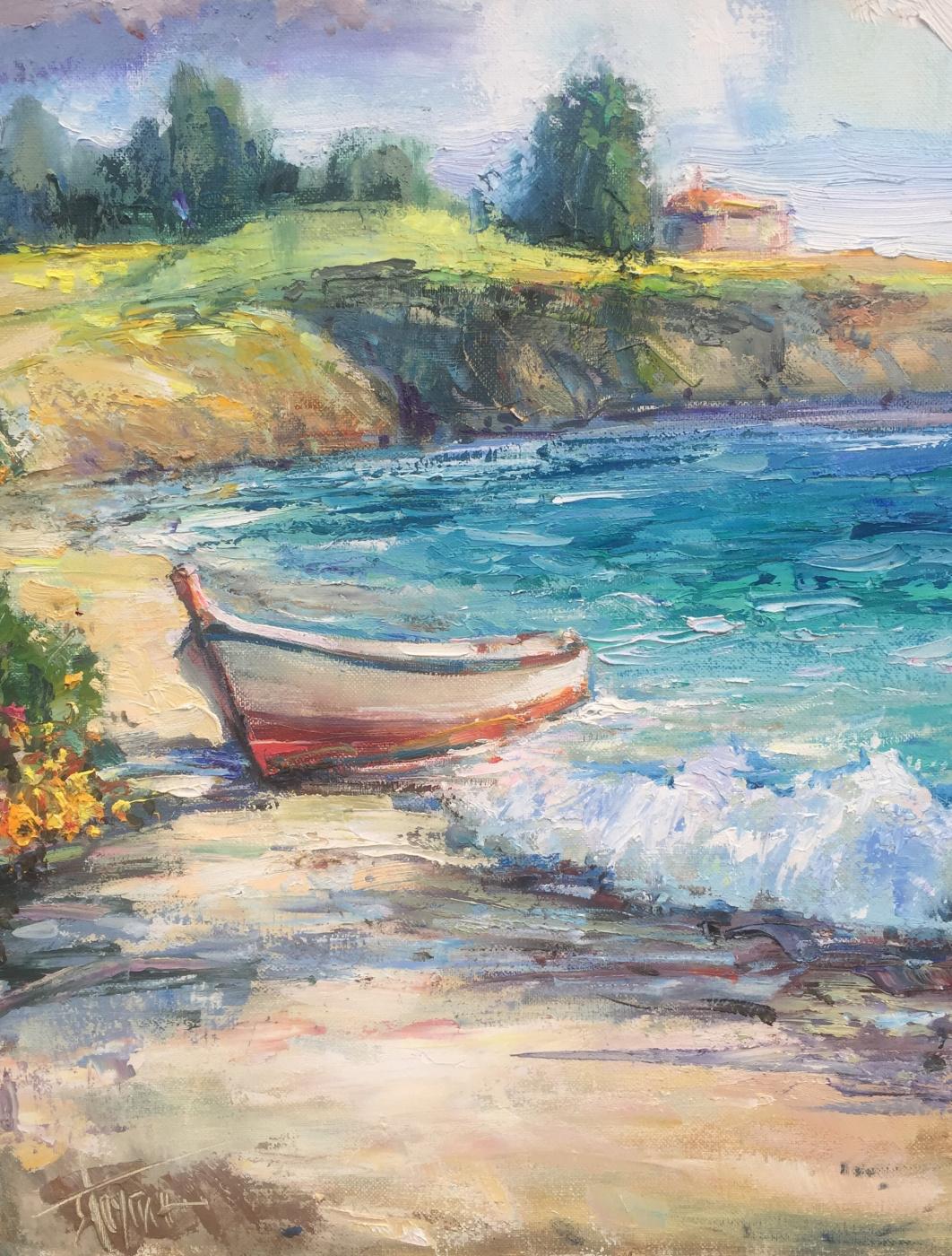 Pavel Tyapugin. A boat