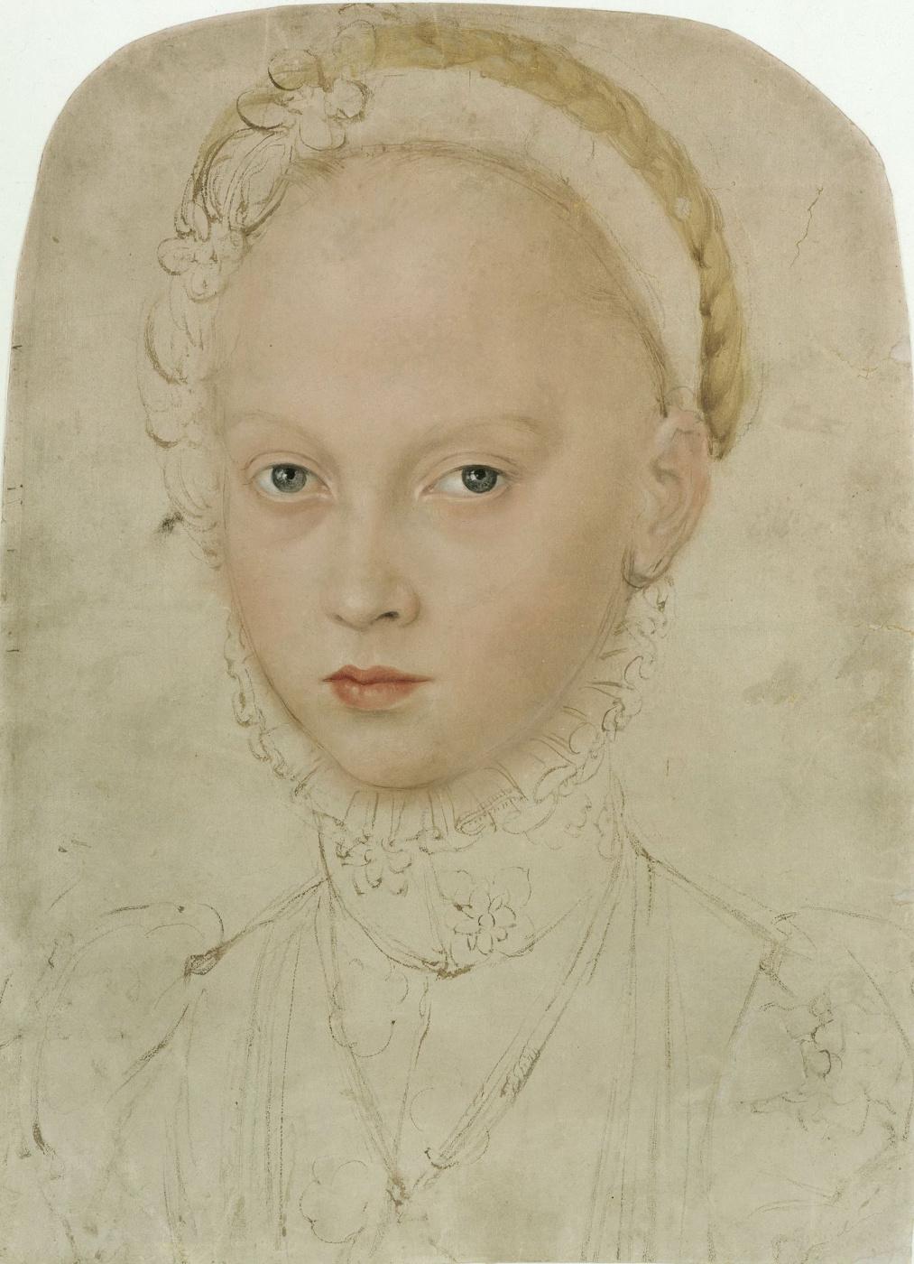 Lucas the Younger Cranach. Portrait of Princess Elizabeth of Saxony