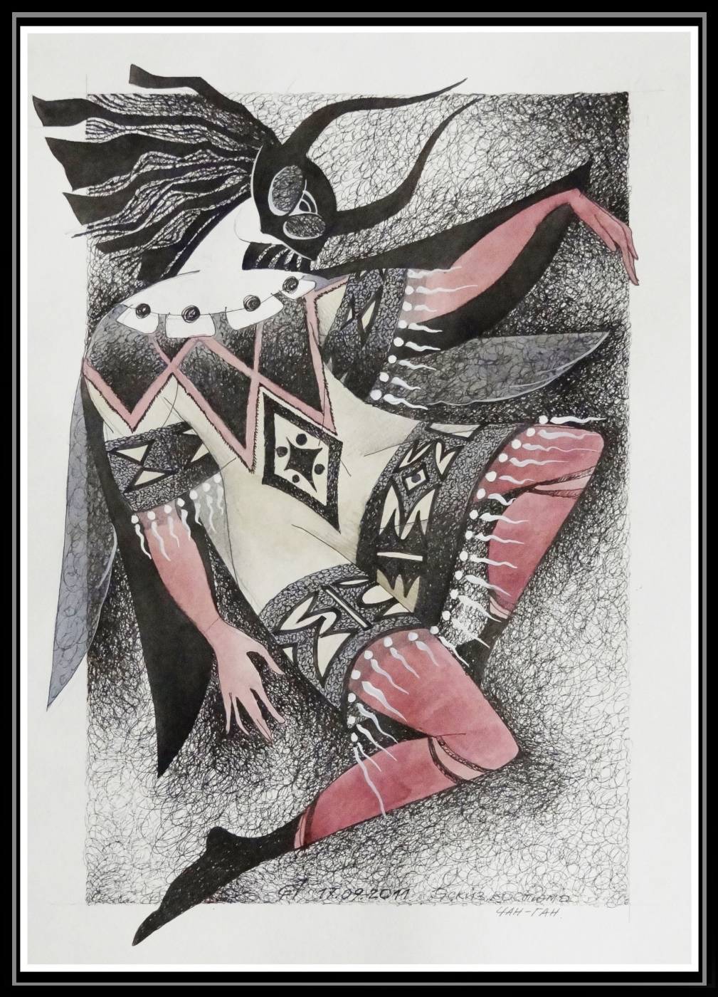 Georgy Stepanov. SKETCH COSTUME. CHAN-GAN