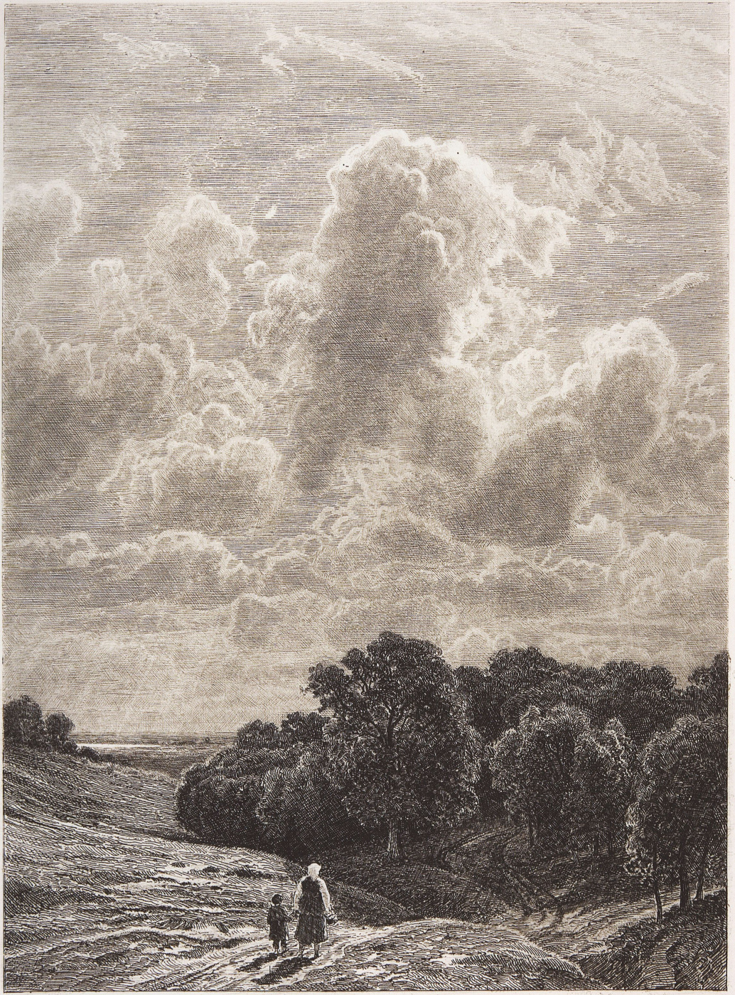Ivan Shishkin. Clouds over the grove