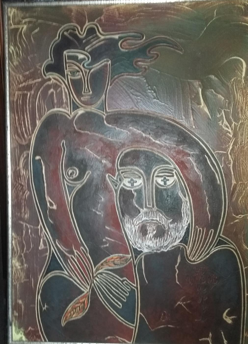 Nikolay Zverev. Metaphysical self-portrait with a masculus or black tear