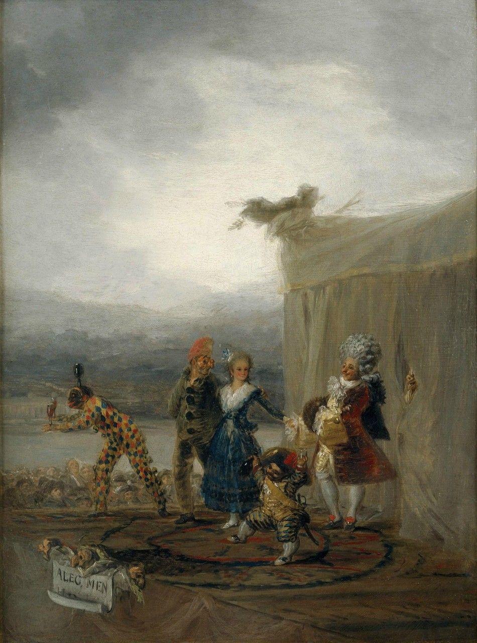 Francisco Goya. Wandering comedians