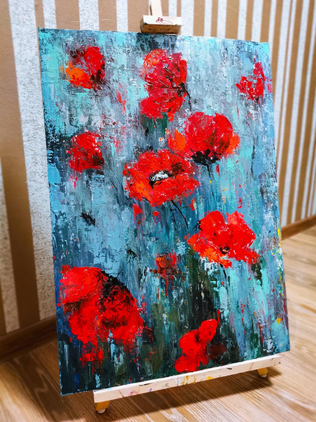 Anastasia Evgenievna Romanyuk. Poppies