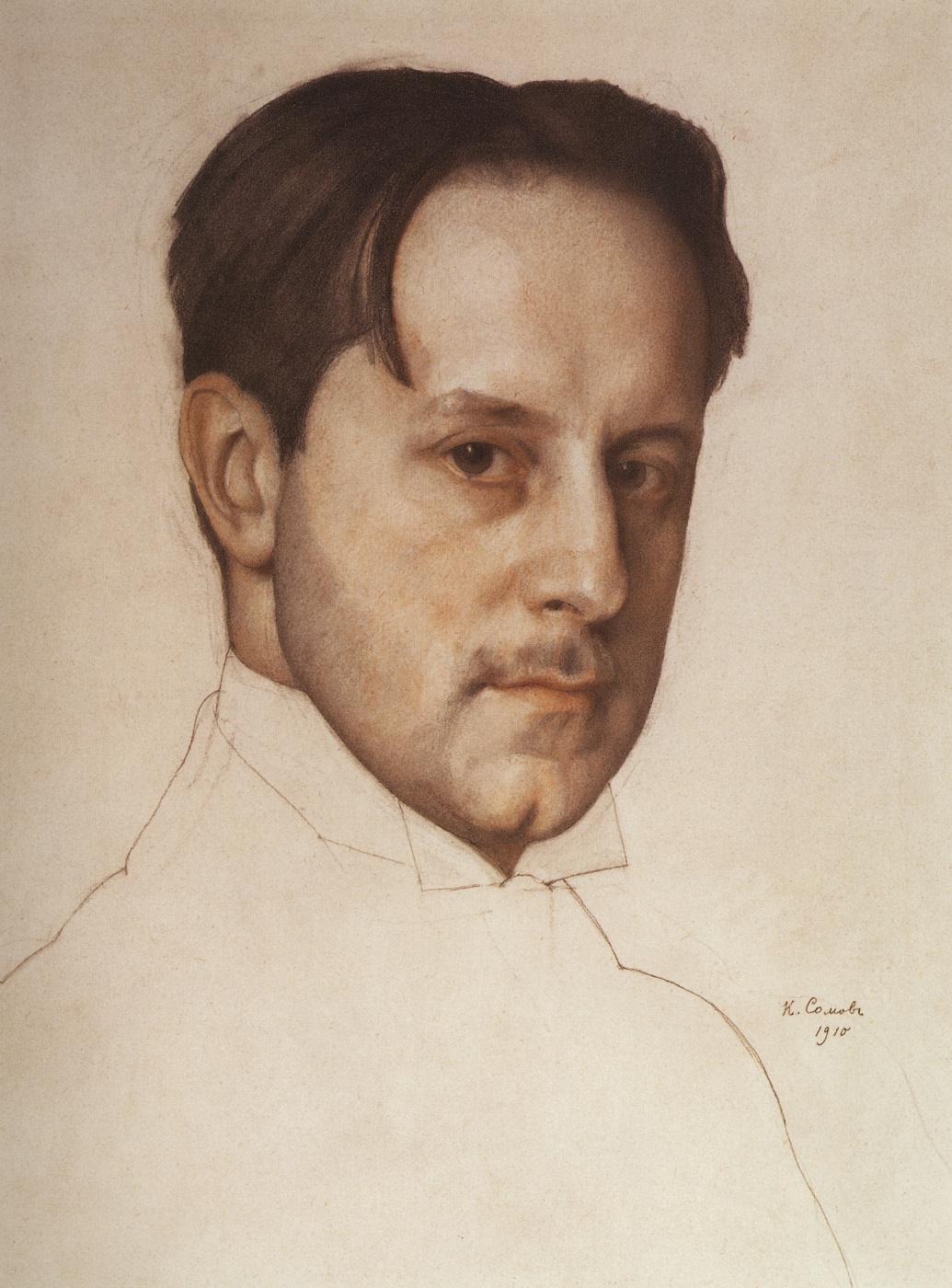 Constantin Somov. Portrait Of M. V. Dobuzhinsky