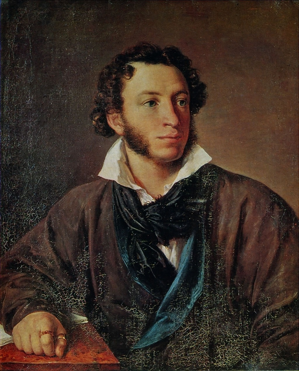 Vasily Tropinin. Portrait Of Alexander Pushkin
