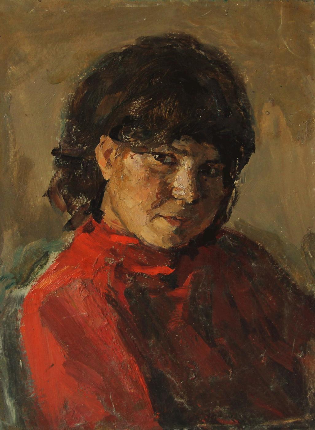 Vladimir Georgievich Gremitskykh. Girl in red