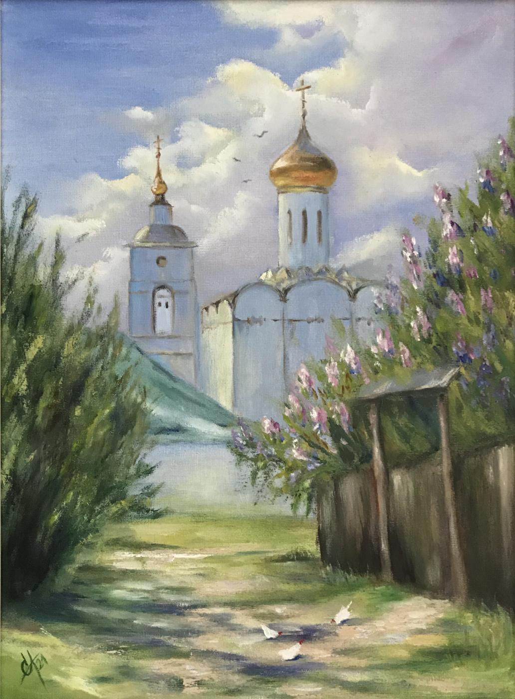 Svetlana Arkhipova. Lilacs by the temple
