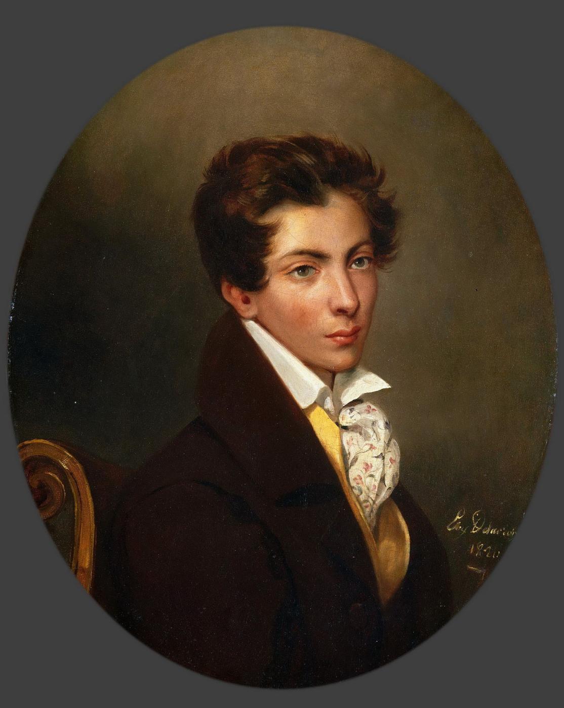 Eugene Delacroix. Portrait Of Eugene Berny Duvilla