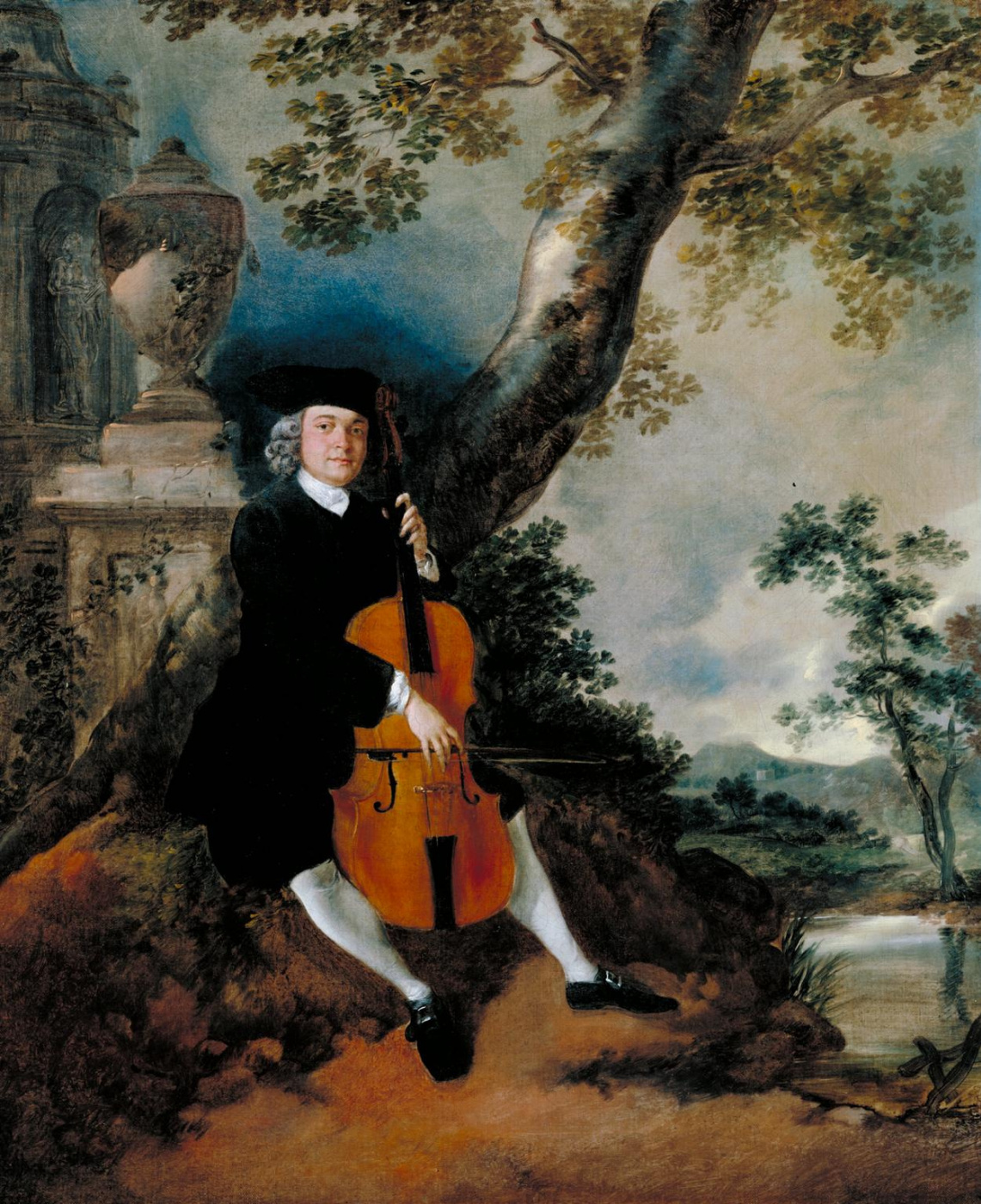 Thomas Gainsborough. Reverend John Chafee, who plays the cello, in a landscape