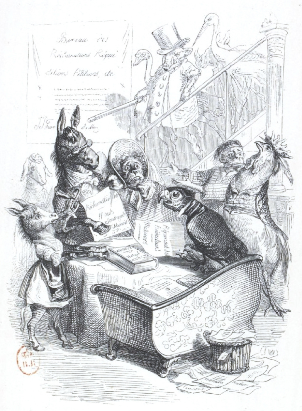 "Jean Inias Isidore (Gerard) Granville. Petition. ""Scenes of public and private life of animals"""