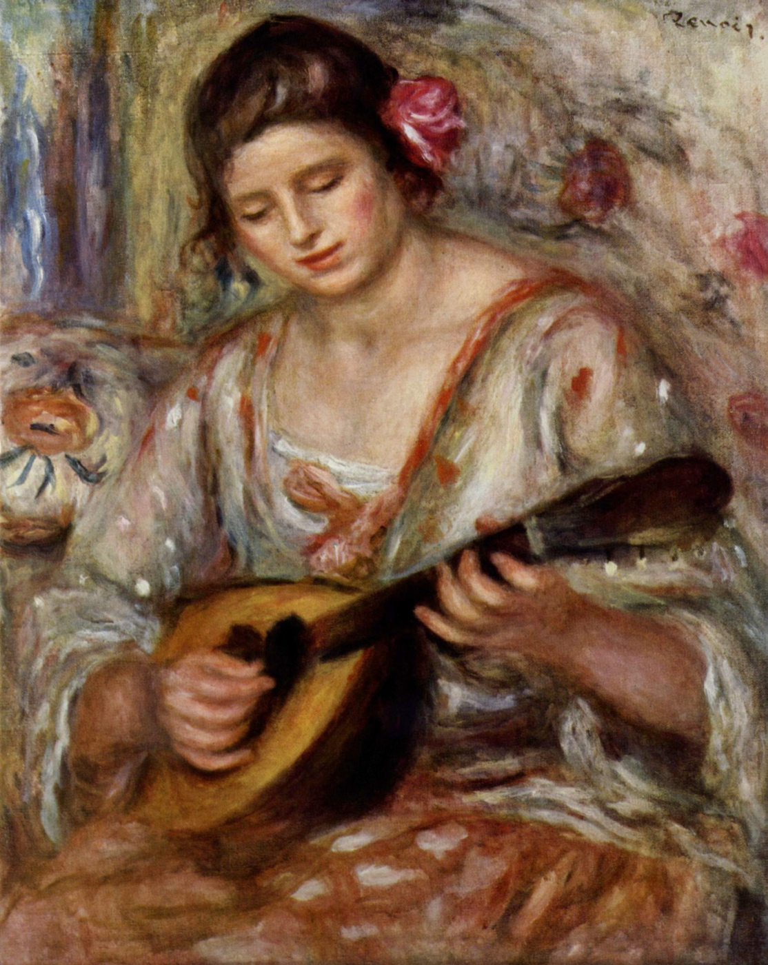 Pierre-Auguste Renoir. Girl with a mandolin
