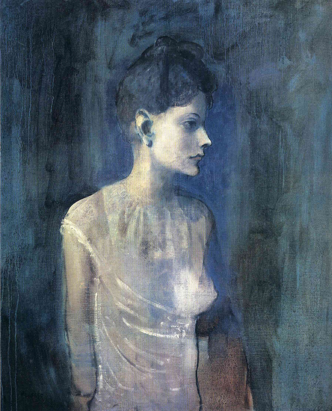 Pablo Picasso. Girl in a chemise
