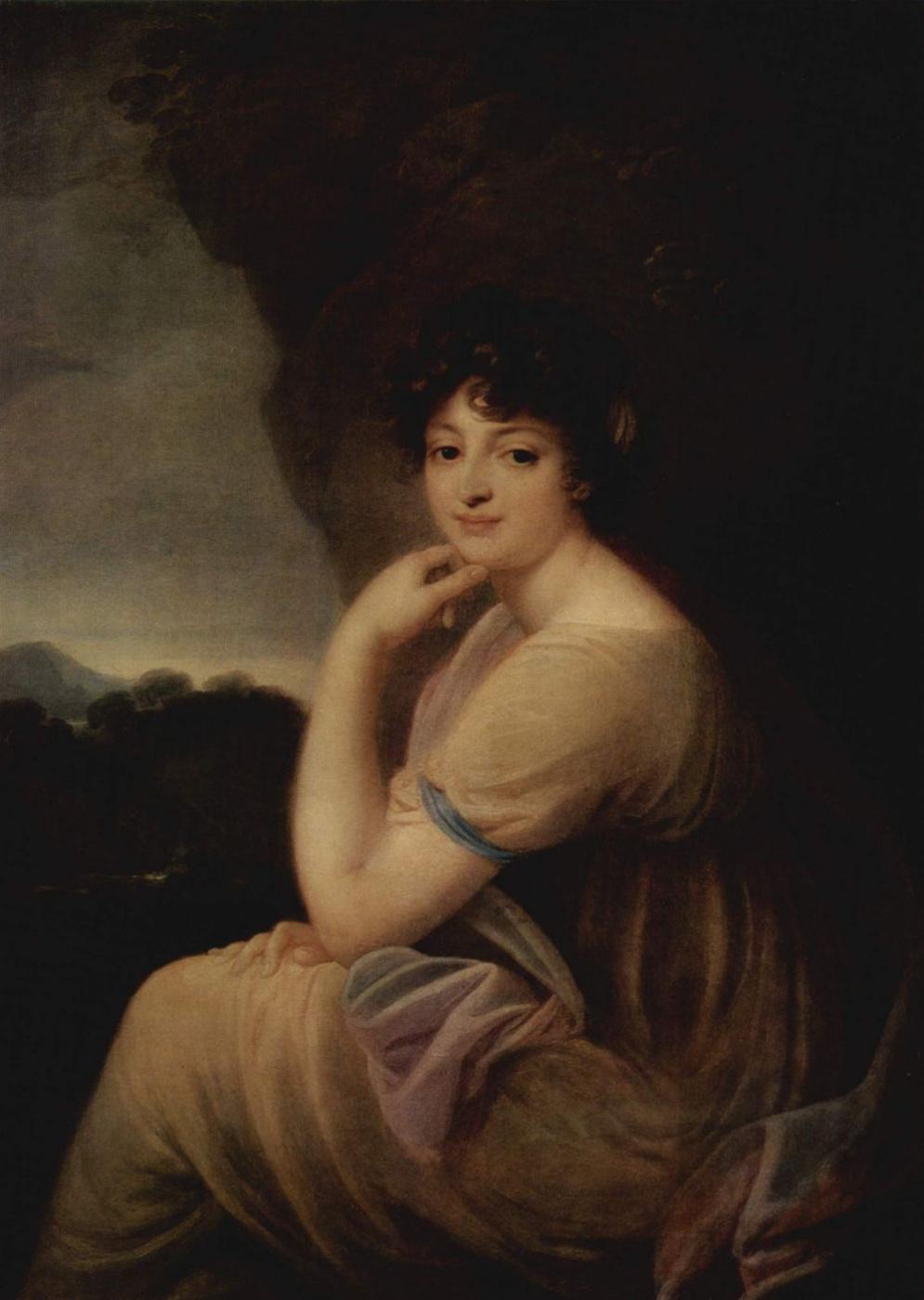 Joseph Grassi. Portrait Of Catherine Bakunina