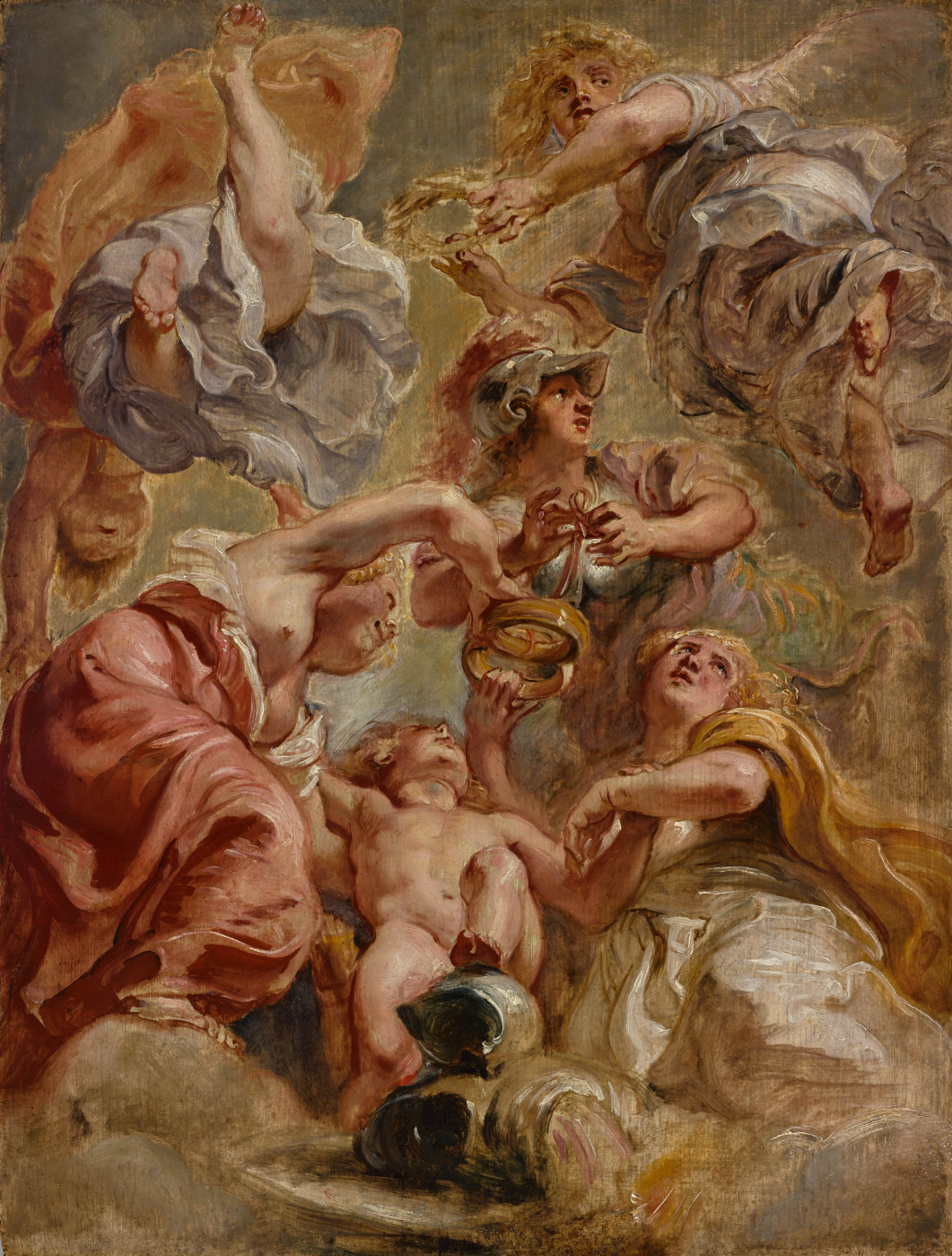 Peter Paul Rubens. England, Scotland, Minerva, Cupid and Two Victories