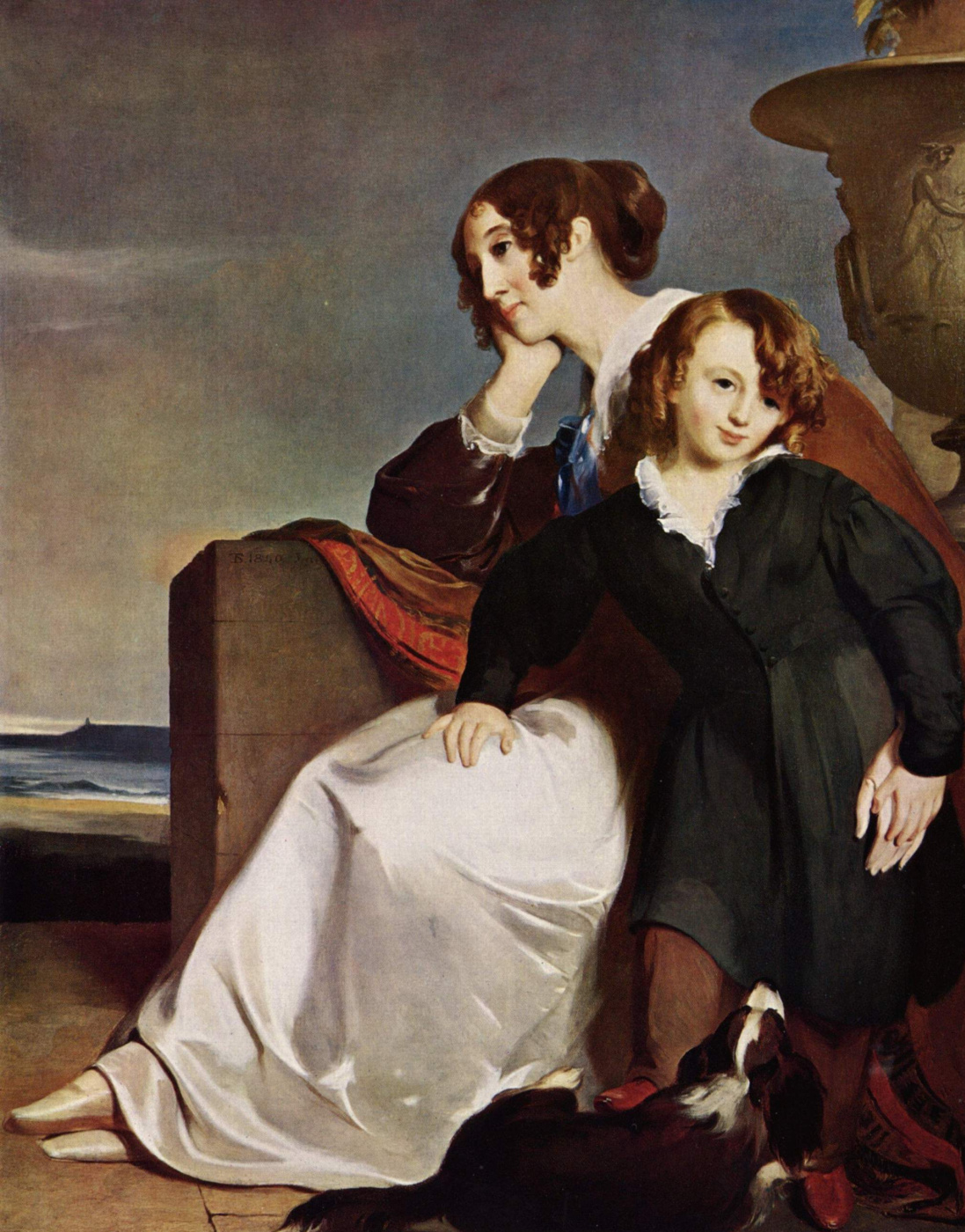Thomas Sally. Mother and son