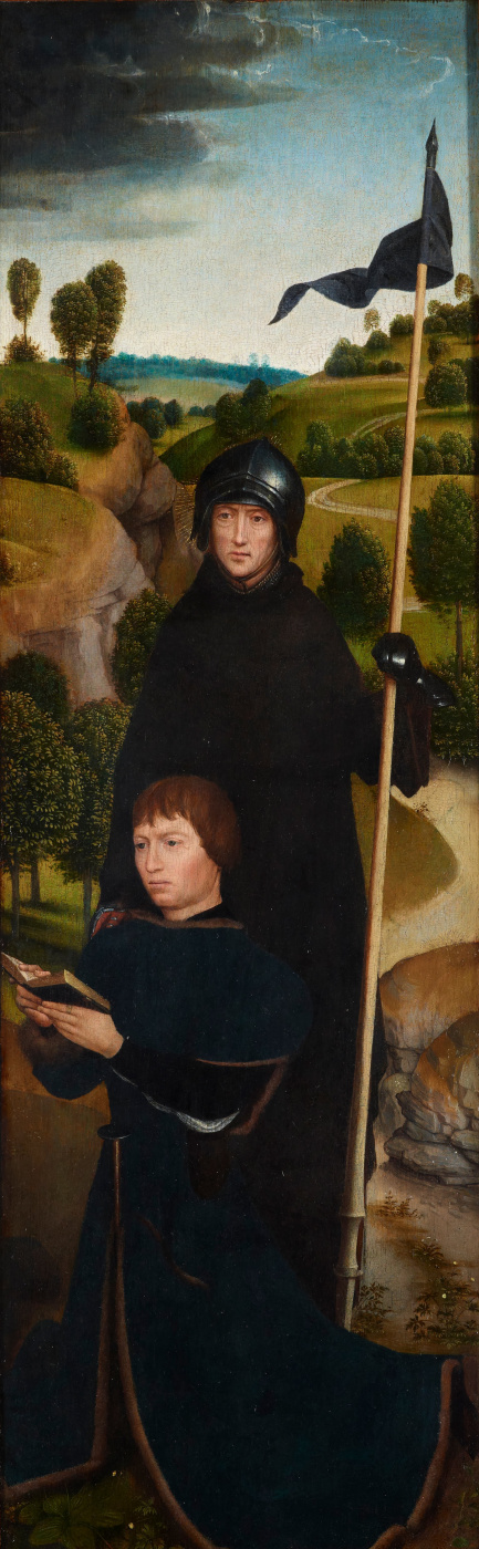 Hans Memling. Young man at prayer with St. William Malevskim. Triptych Of Jan Crabbe. The right panel
