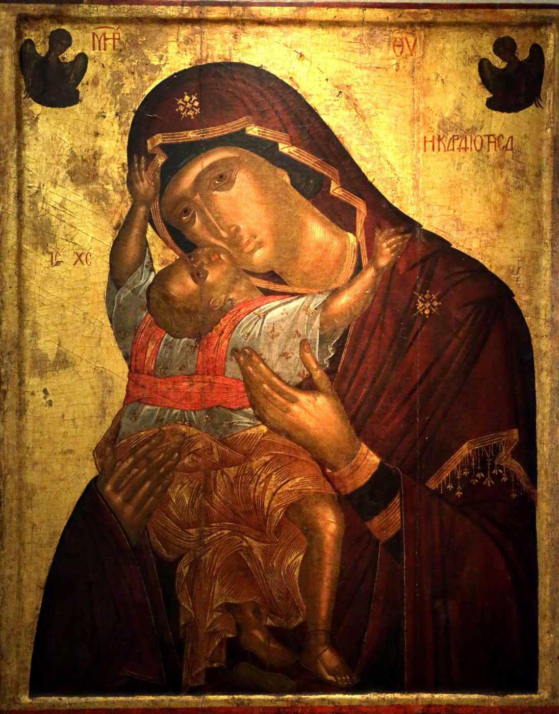 Angelos Akotantos. Icon of the Mother of God Cardiotissa (Heart)