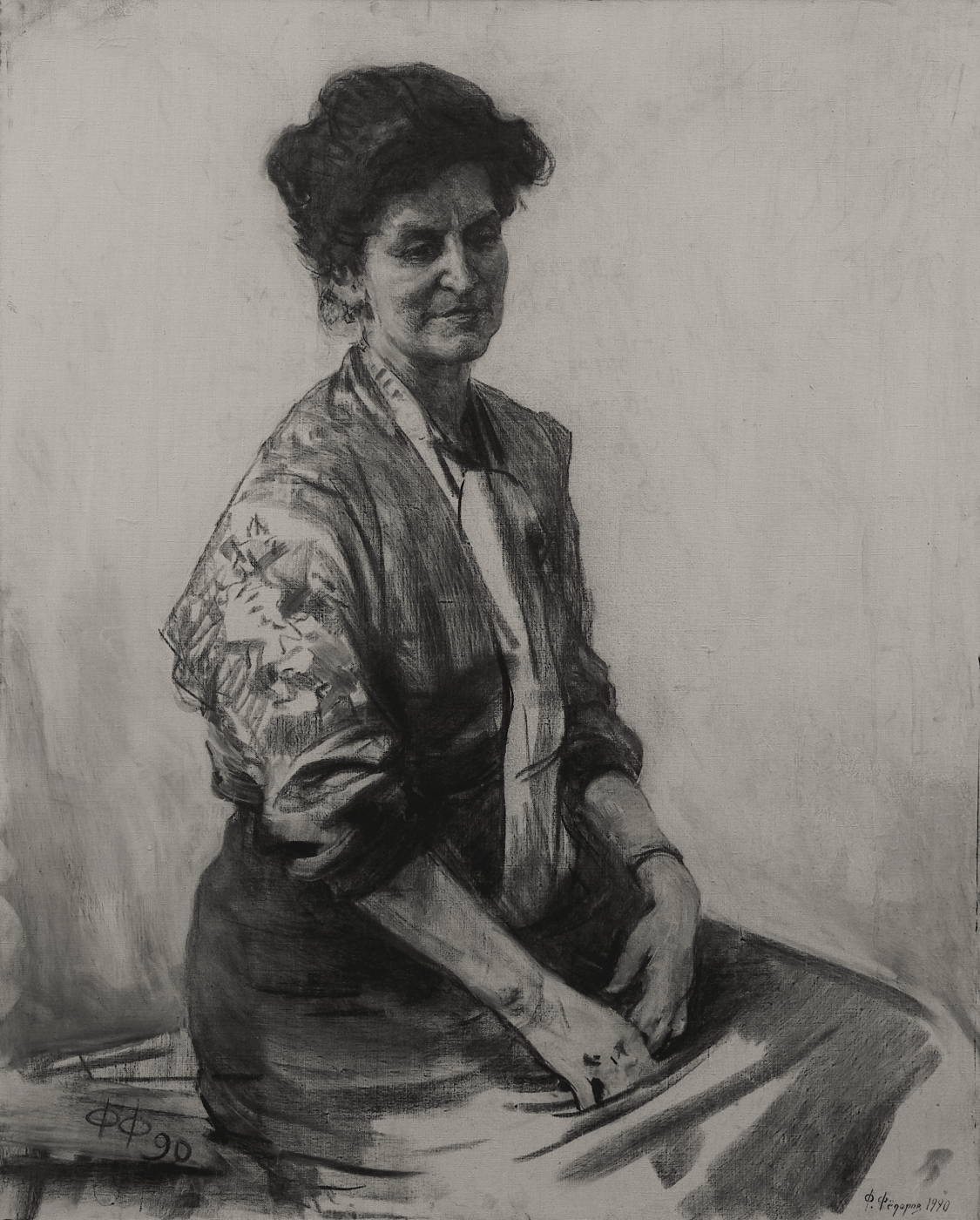 Фёдор Борисович Фёдоров. Portrait of L. V. Tretyakova