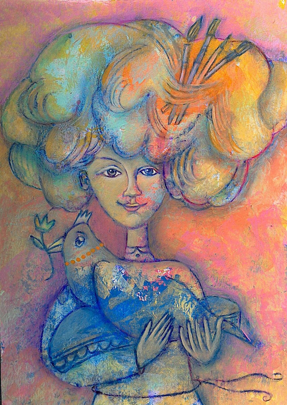 Ksenia Sushchenko-Vladimirova. Girl with a chicken