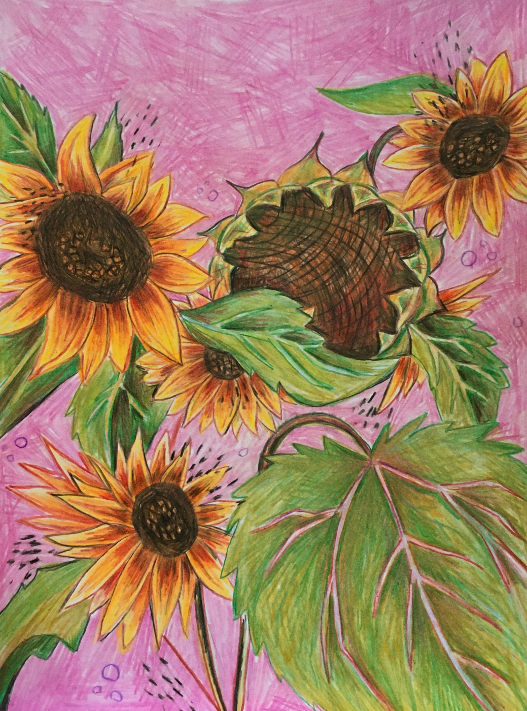 Oksana Gracheva. Sunflowers