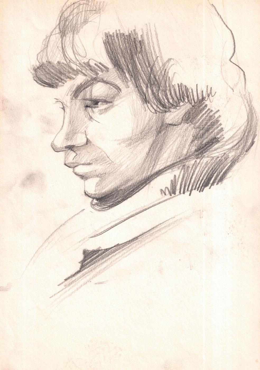 Arkady Pavlovich Laptev. Sketch of a young guy