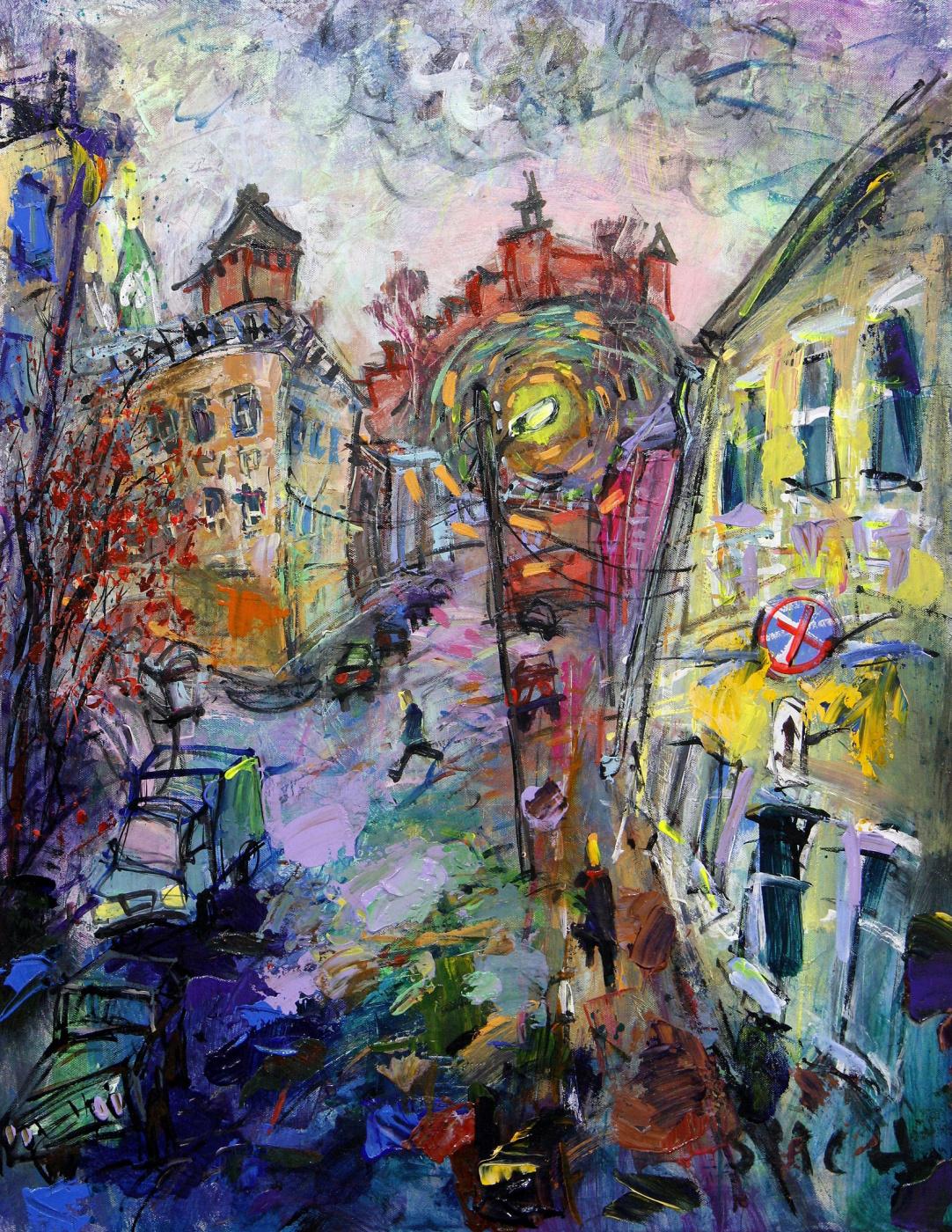 Ilya Pavlovich Spichenkov. Lamp. Day. November.