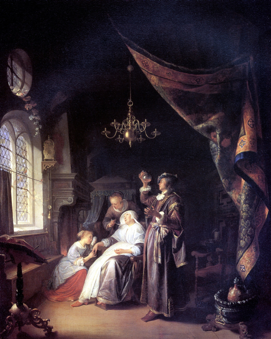 Gerrit (Gerard) Dow. The patient (Woman with the dropsy)