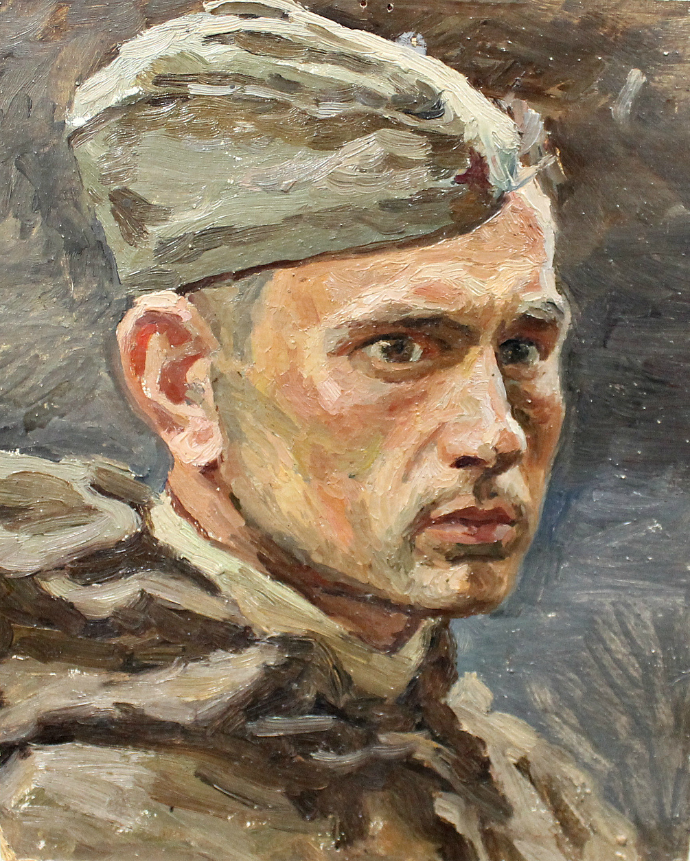 Orest Georgievich Betekhtin. Head of soldier