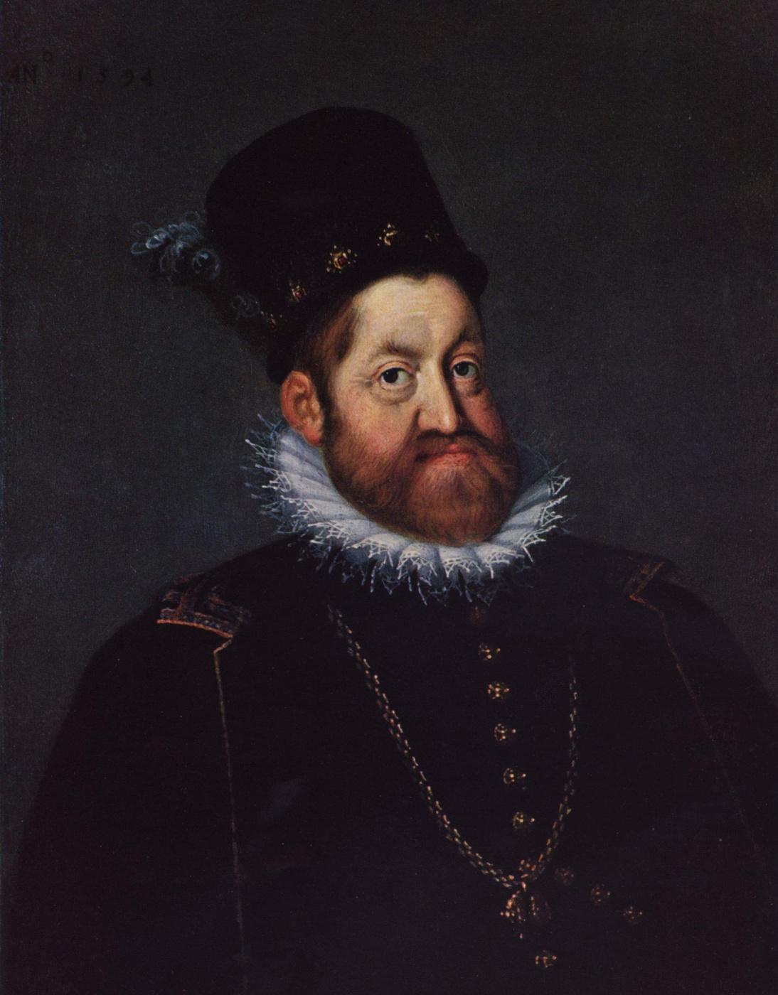 Josef the Elder Heinz. Portrait of Emperor Rudolf II