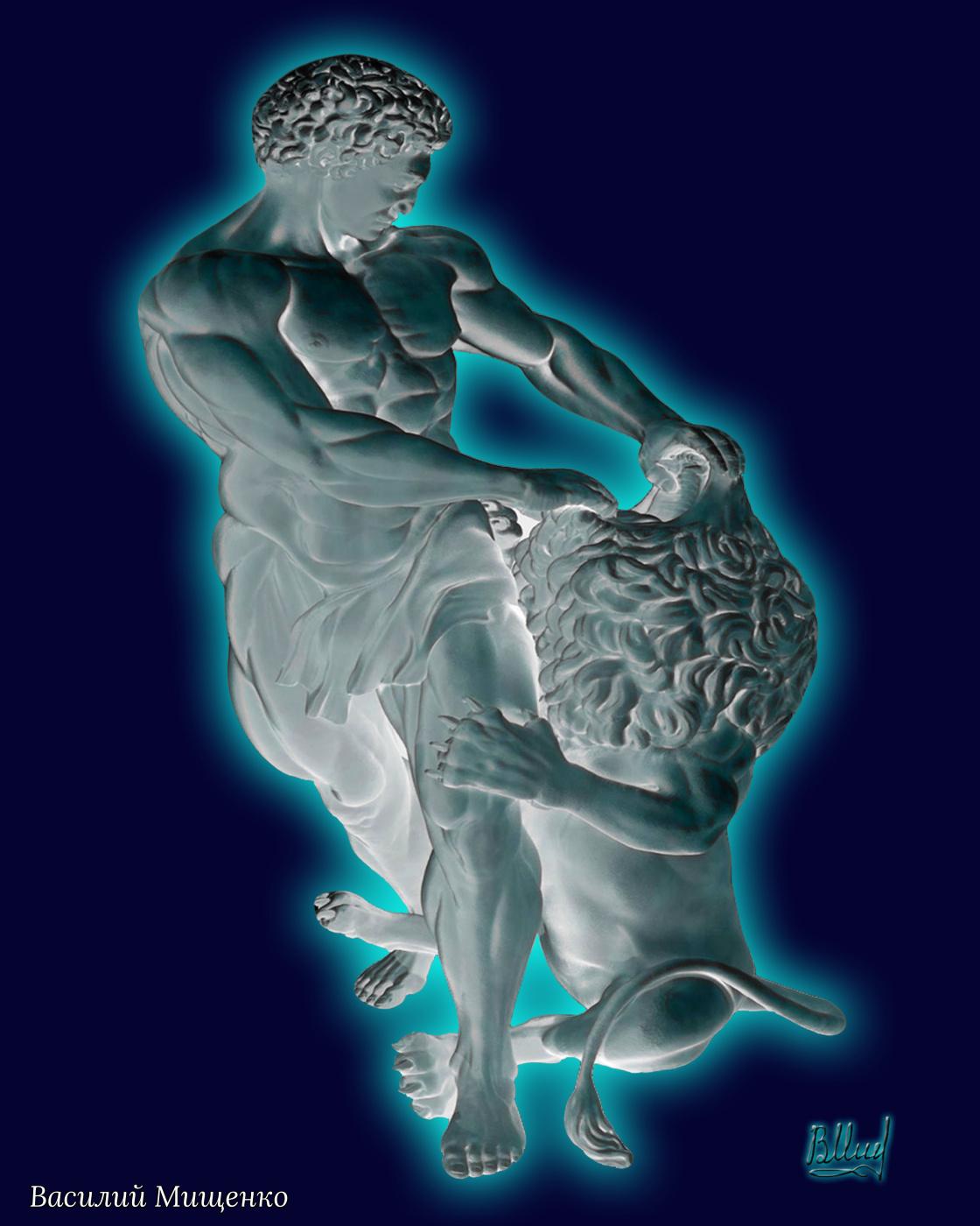 Vasiliy Mishchenko. Samson and the lion