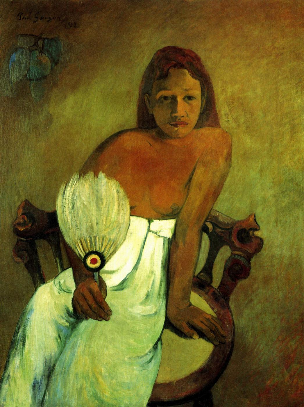 Paul Gauguin. Young girl with a fan