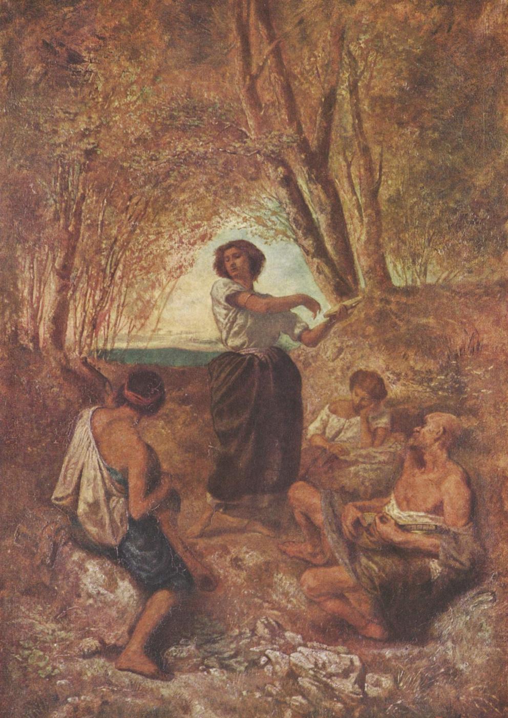 Anselm Frederick Feuerbach. Gypsy dance