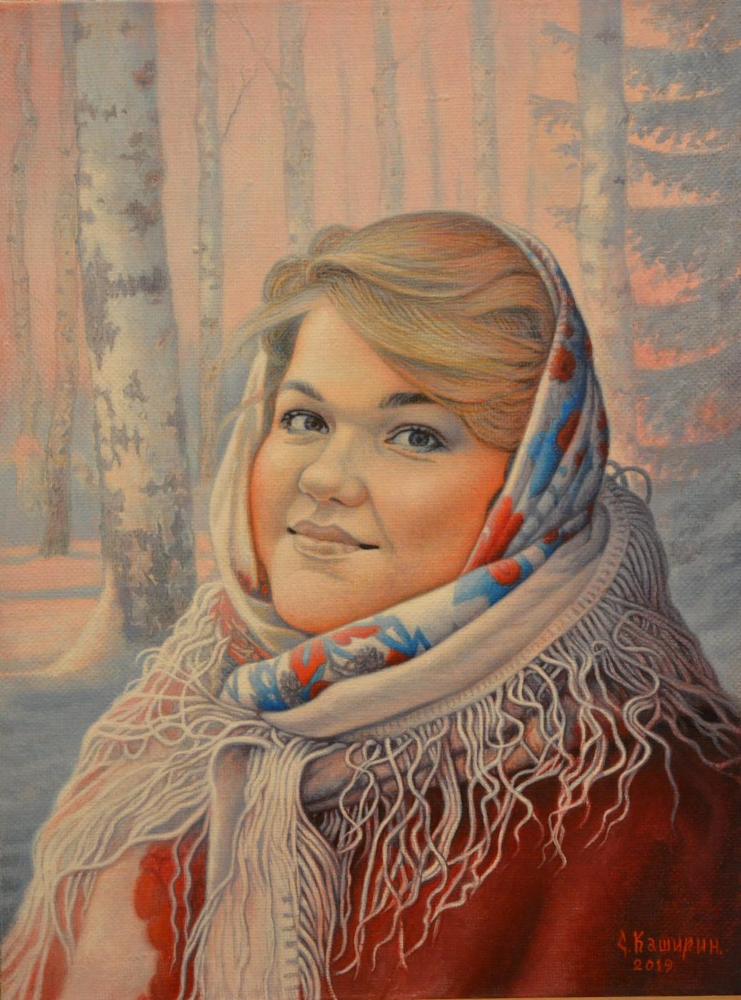 Stepan Vladimirovich Kashirin. Portrait of Rimma Kuznetsova.