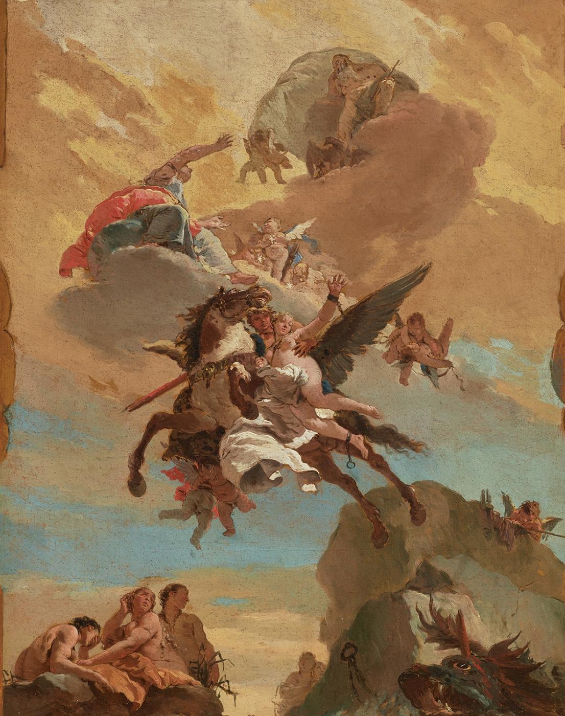 Giovanni Battista Tiepolo. Perseus and Andromeda. Sketch