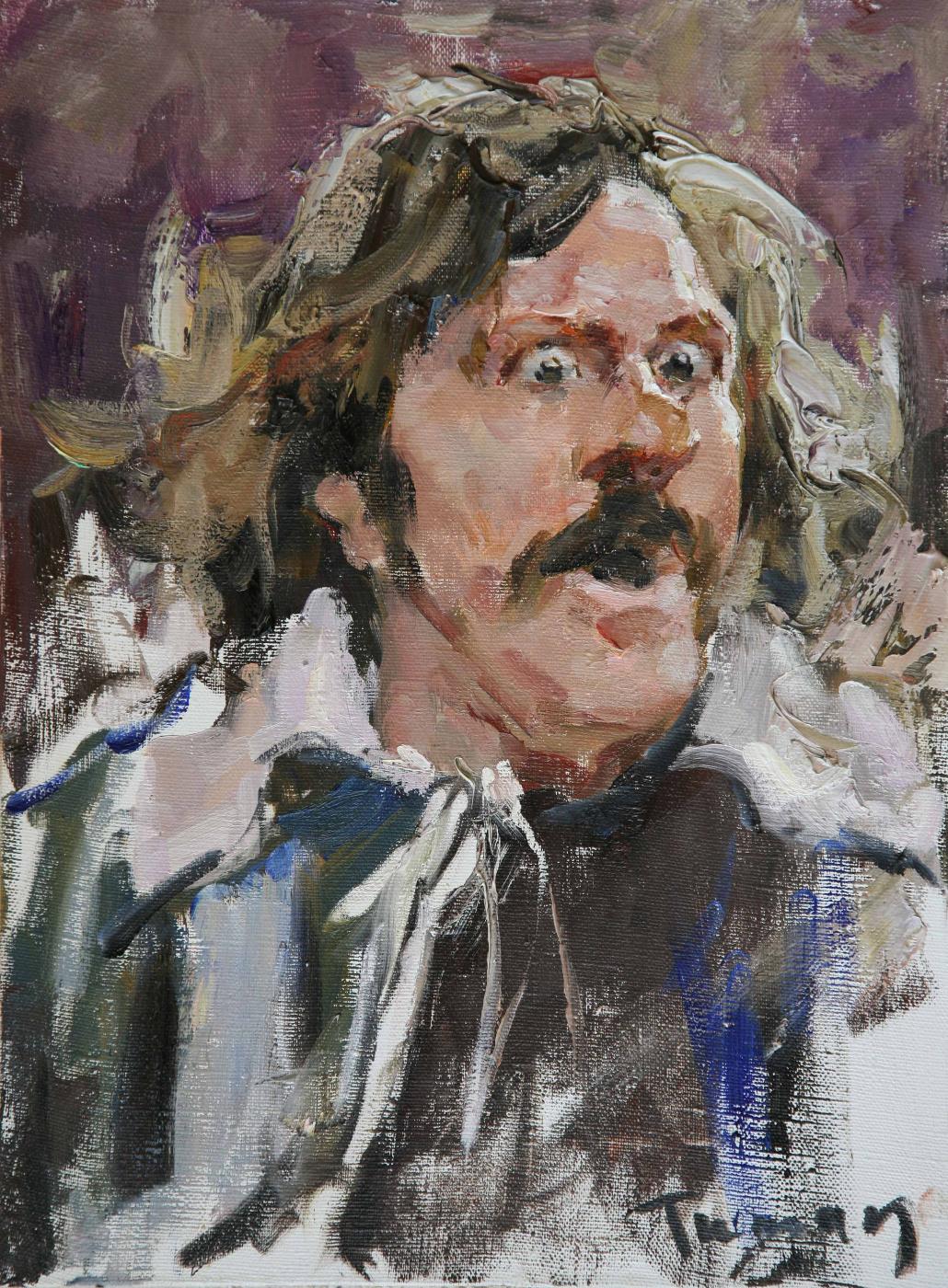 Tuman Art Gallery Tumana Zhumabayeva. Gerard Depardieu