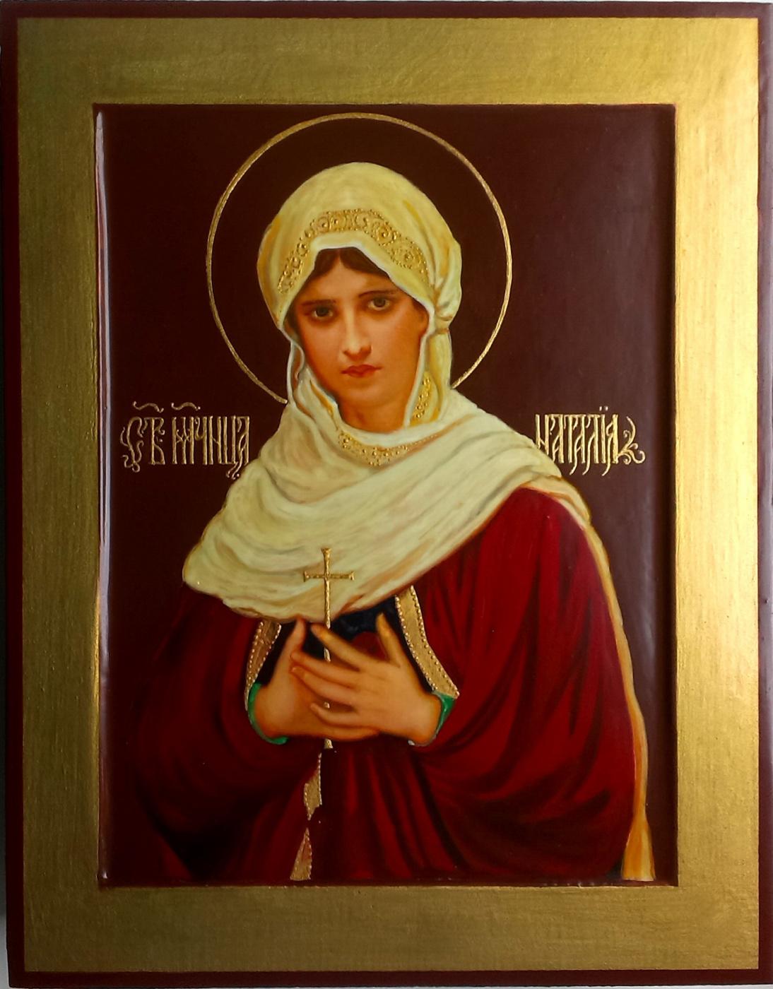 Gennady Alekseevich Stepanov. Icon of the Holy Martyr Natalia