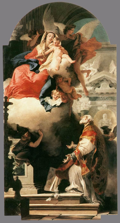 Giovanni Tiepolo. Apparition of the Virgin to St. Philip Neri