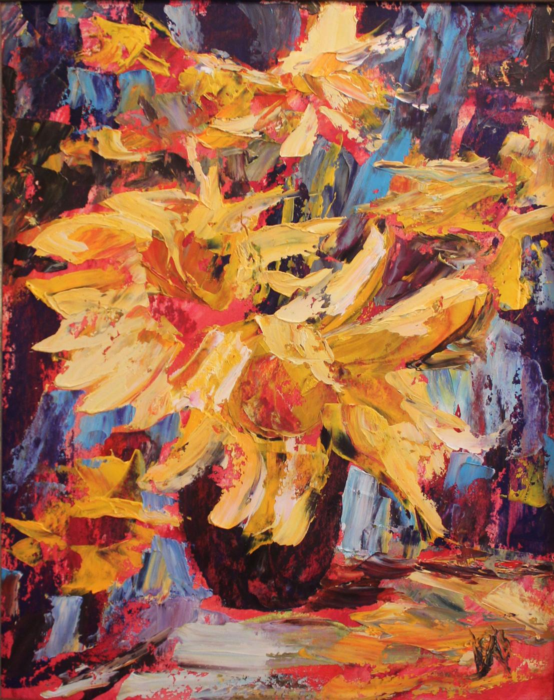 Love Sergeyevna Nikulina. Sunflowers
