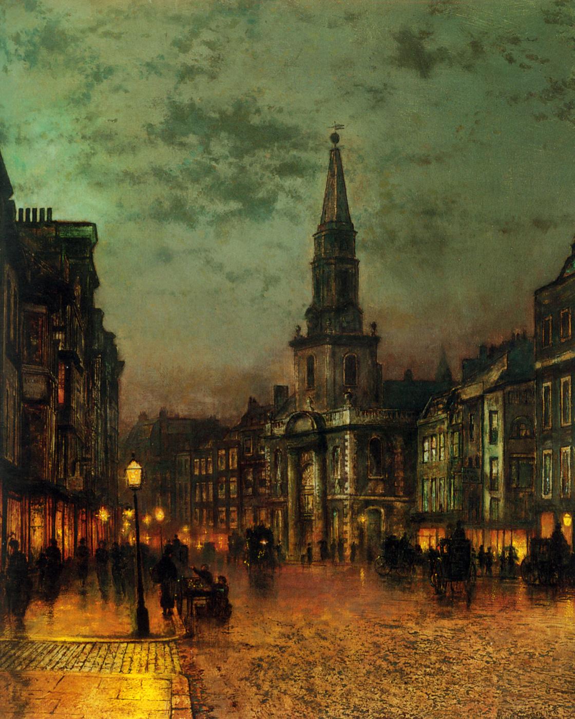 John Atkinson Grimshaw. Blackman Street, London