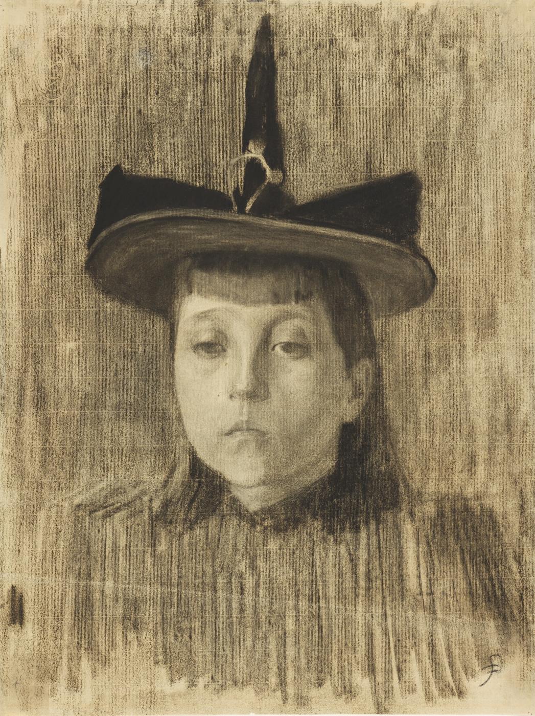 Harald Oskar Sohlberg. Girl in a hat
