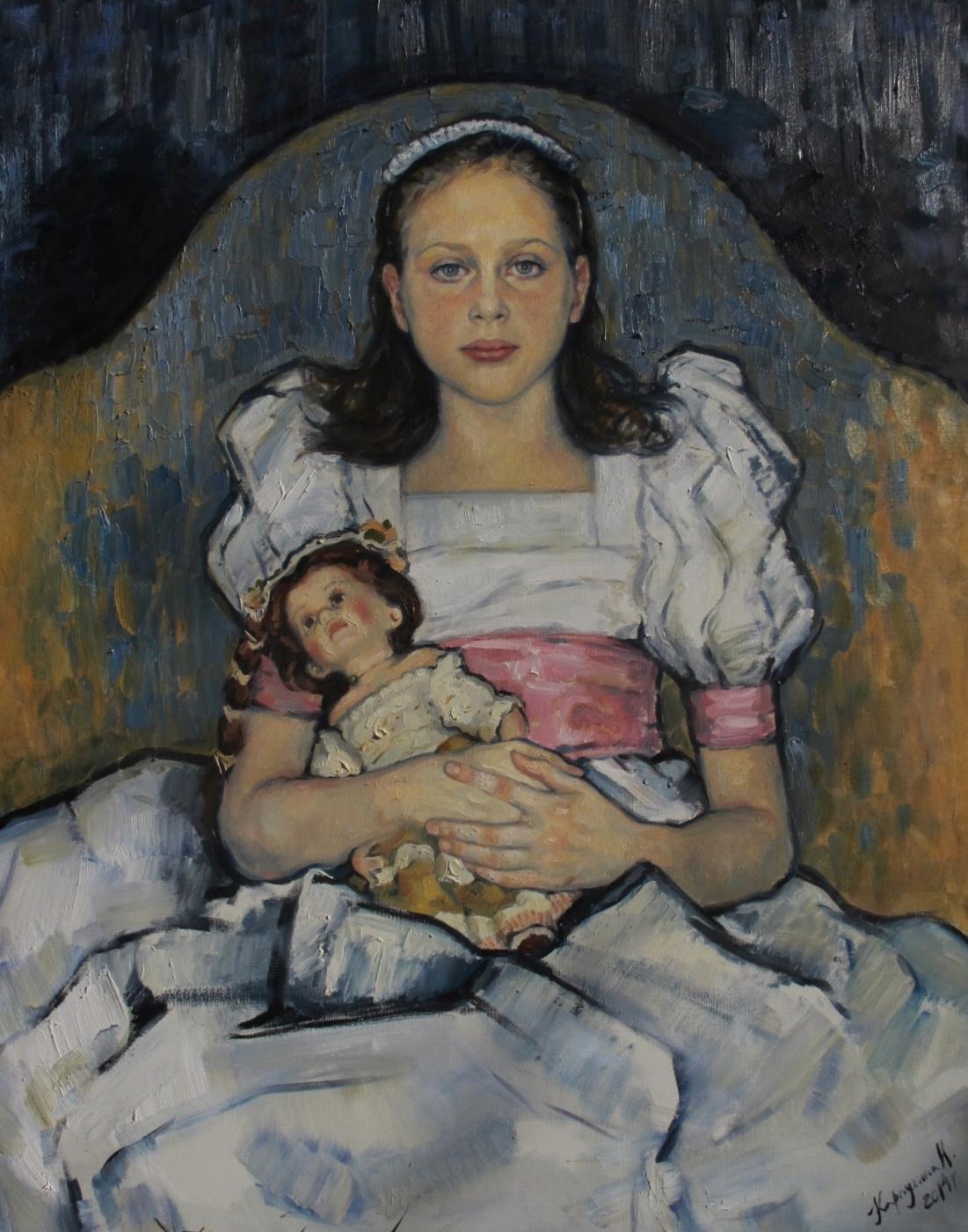 "Natalia Alexandrovna Karpukhin. ""Portrait Of Nicky Solovieva"""