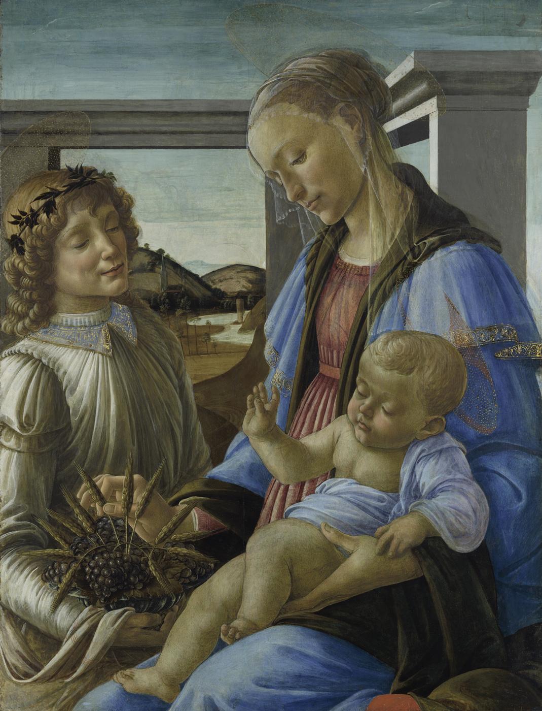Sandro Botticelli. Madonna Of The Eucharist