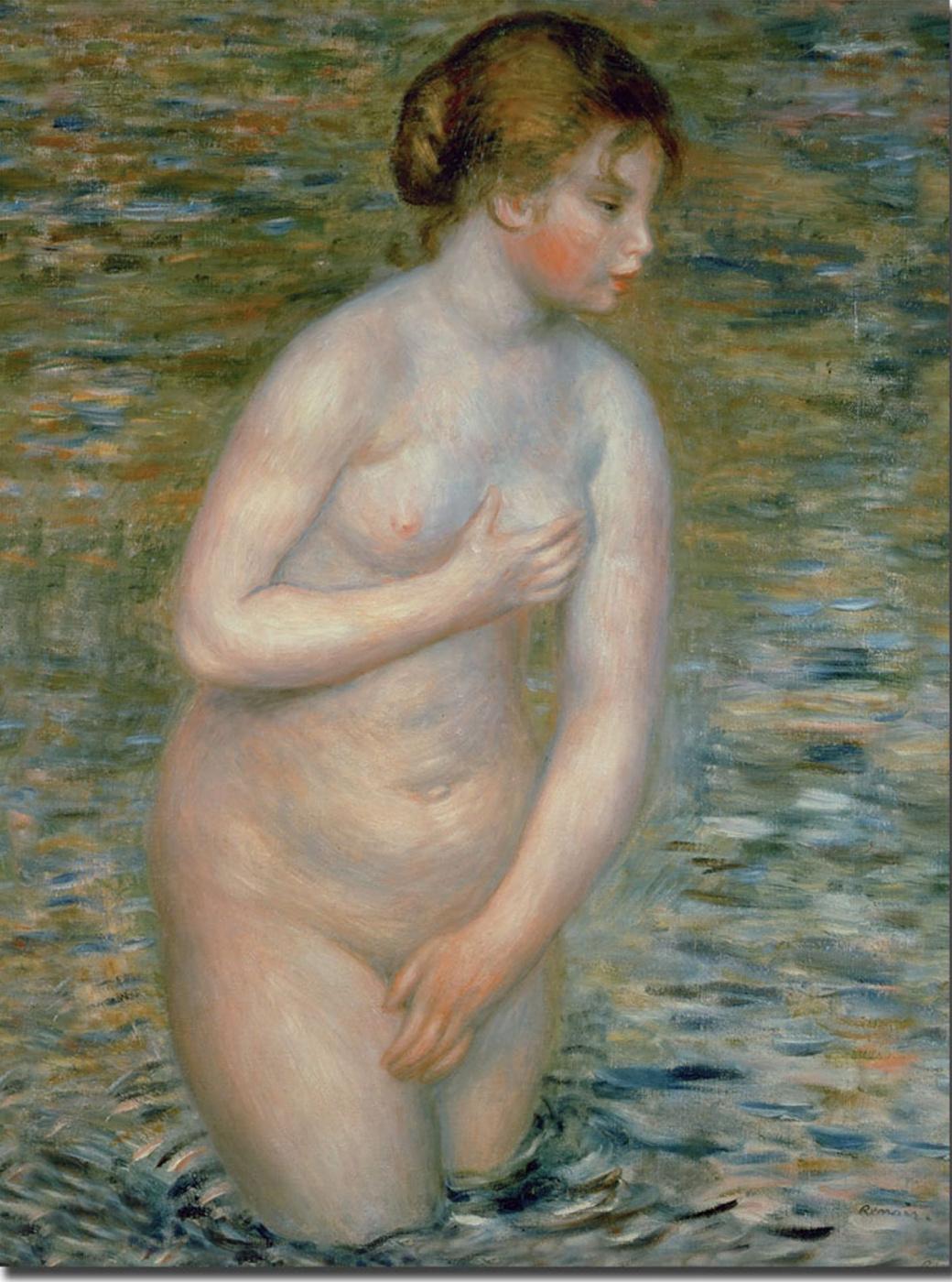 Pierre-Auguste Renoir. Nude in the water