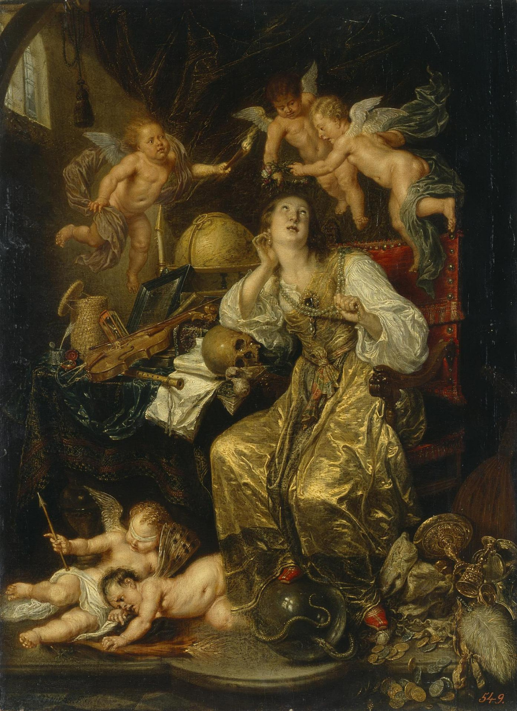 David Teniers the Younger. Allegory of Prudence overcoming the bustle of the earth (Allegory of Faith)