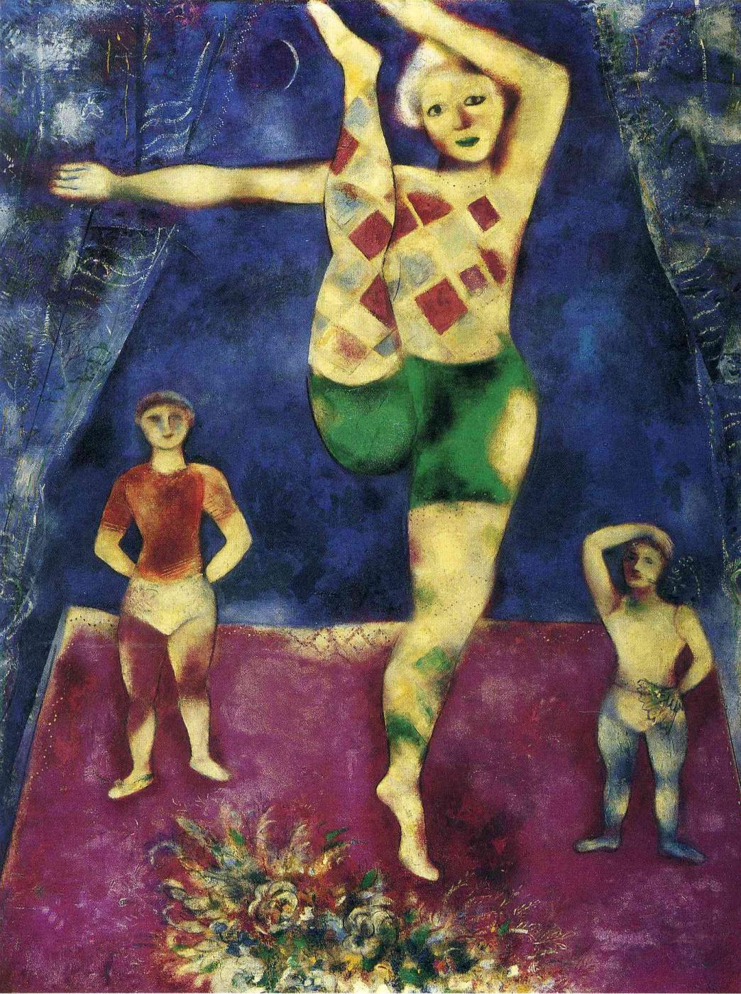 Marc Chagall. Three acrobats