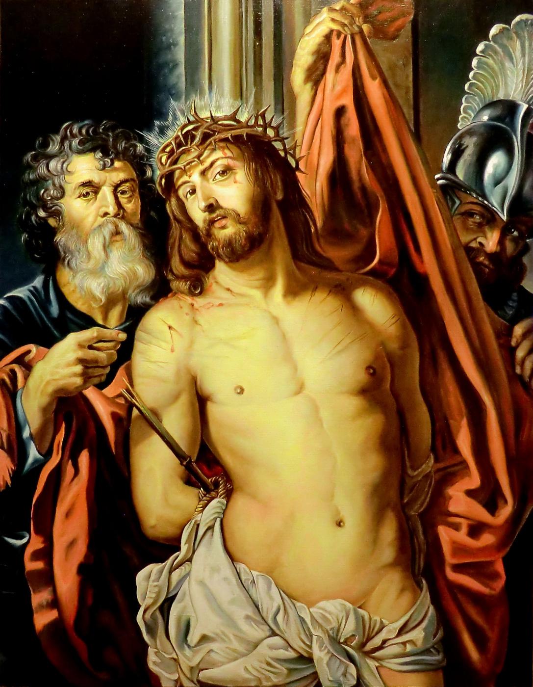 Valery Vasilyevich Litvinov. Christ in the crown of thorns (copy of Rubens)