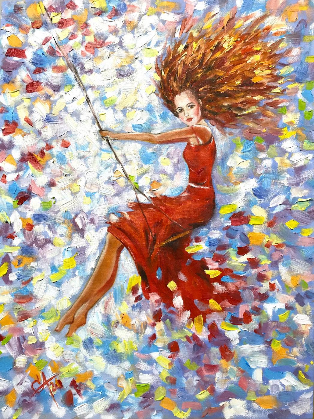 Svetlana Arkhipova. Girl on the swing